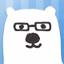 [アイコン]熊(青)