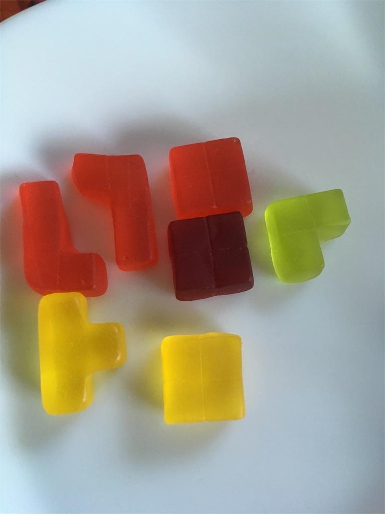 積み方1パターン目使ったグミの種類