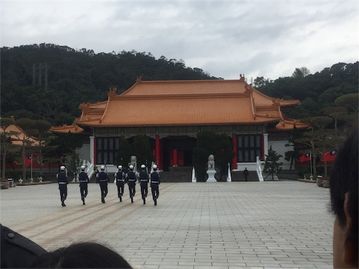 忠烈祠での衛兵交代式