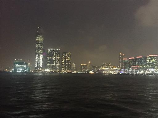 香港島側から九龍側へスターフェリー