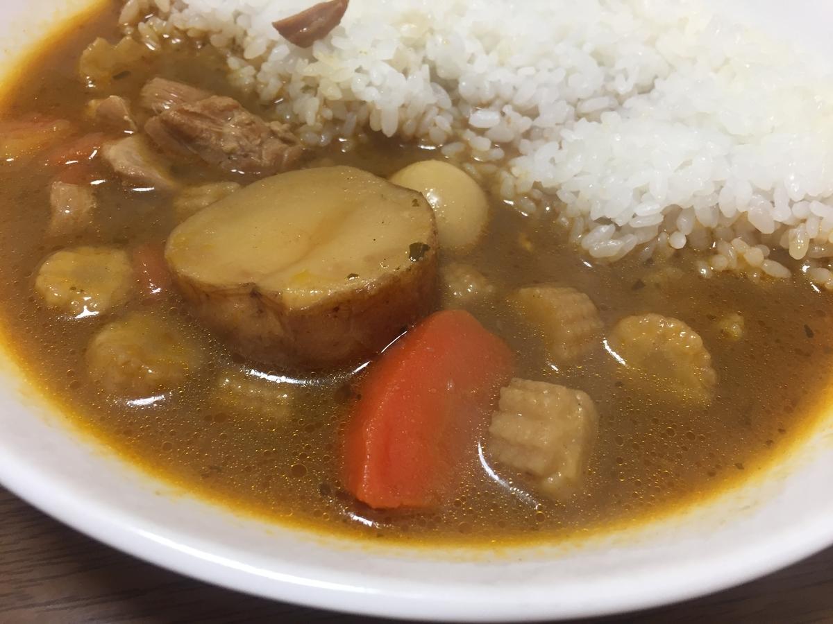 無印良品「チキンとごろごろ野菜のスープカレー」