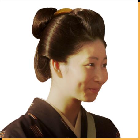 【おちょやん】「岡安」のお茶子、富士子役の土居志央梨さん