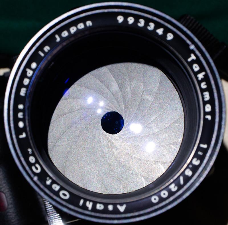 Takumar200mmF3.5の絞り形状