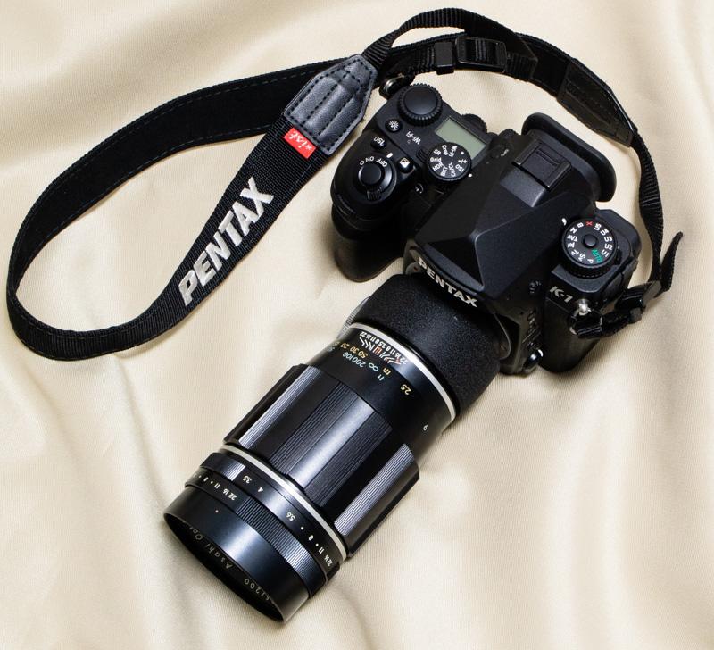 Takumar 200mmF3.5をPENTAX K-1に装着