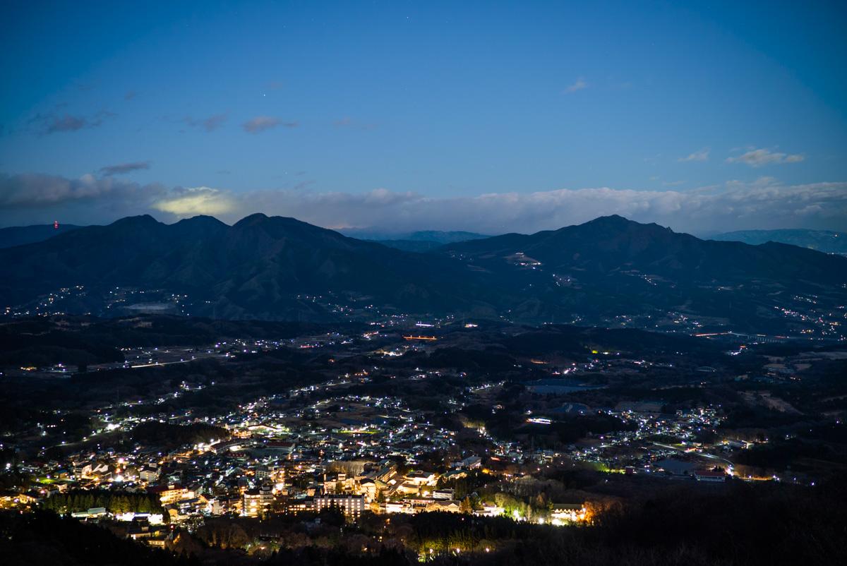 上ノ山公園展望台から見える夜景