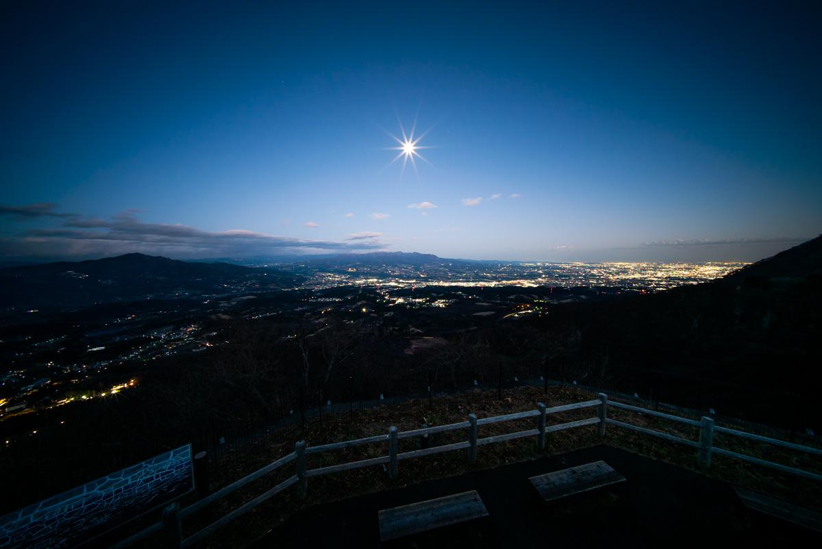 上之山展望台からの夜景