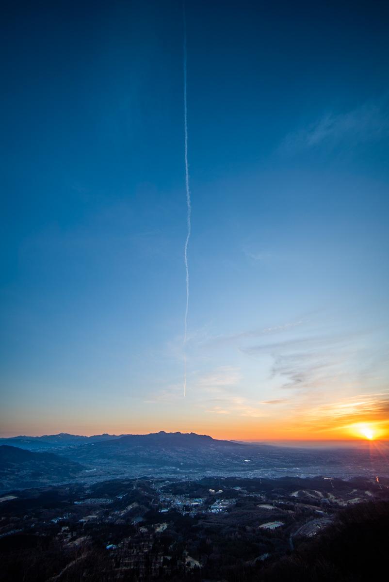 山の上展望台からの朝日