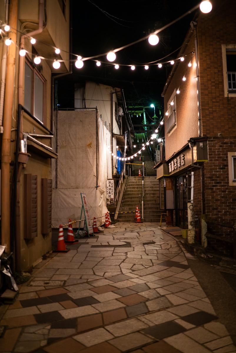 伊香保石段街の夜