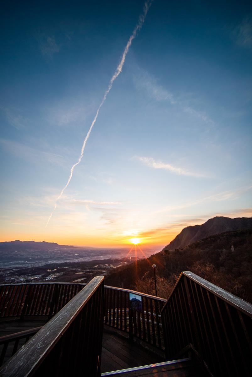 上之山展望台からの朝日