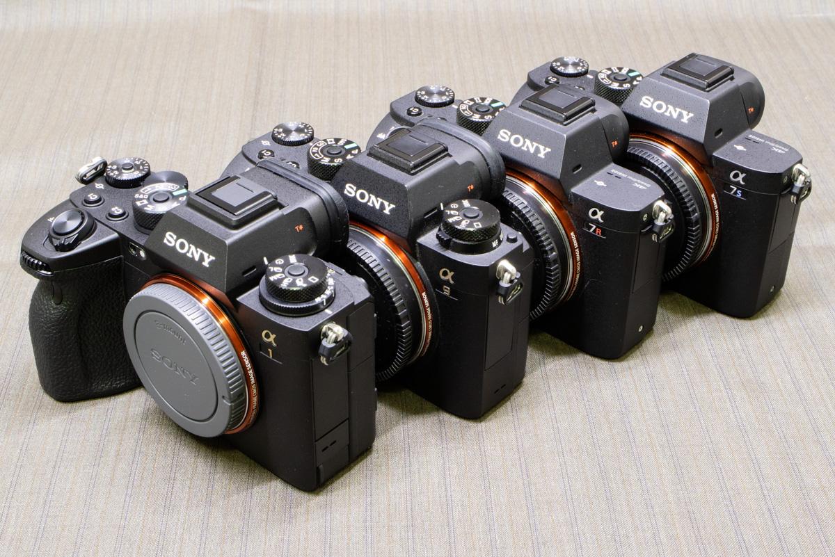 α1とα9とα7RIIとα7SIIの写真