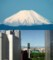 前線通過後の富士山