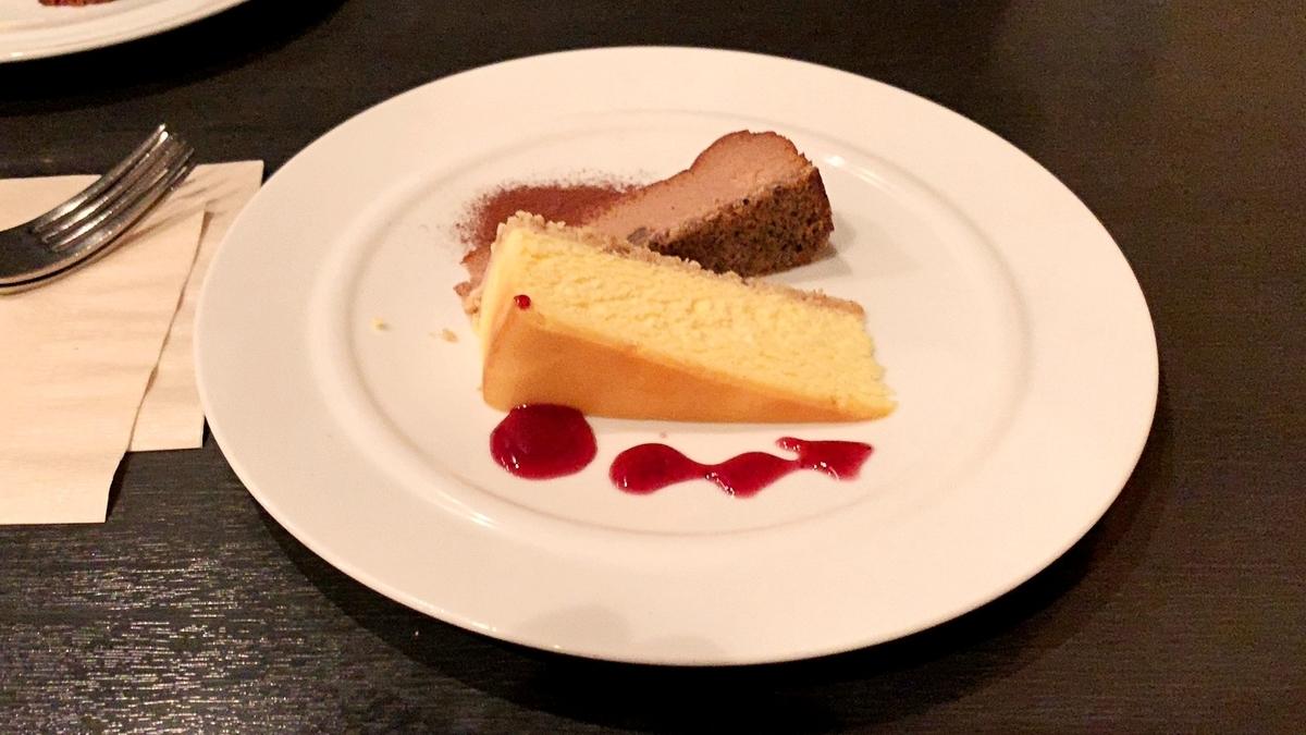 ニューヨークチーズケーキとショコラチーズケーキ