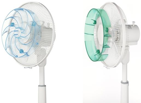 装着するだけで風が変わる扇風機アタッチメントが登場「快風!強マリーナ」「そよ風!広ガリーナ」