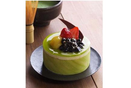 抹茶と和三盆のケーキ