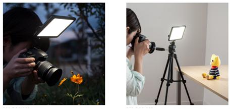 パネル型で均一に被写体を照らす常時点灯式カメラ用LEDライトを4月13日発売