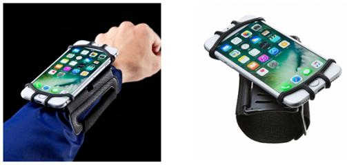 スマートフォンリストバンド(PDA-ARM6BK)でアウトドアでも自由自在にスマホを活用