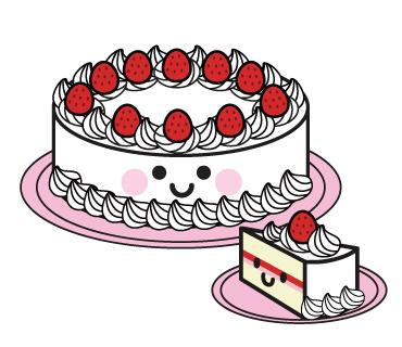 LINEスタンプ ケーキ