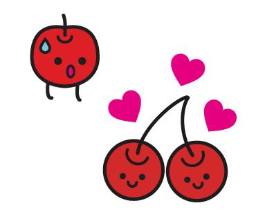 LINEスタンプ さくらんぼ りんご