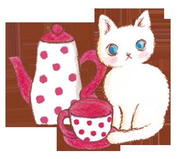 ねこ お茶
