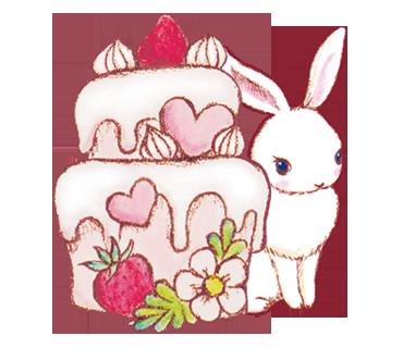 ケーキ ウサギ