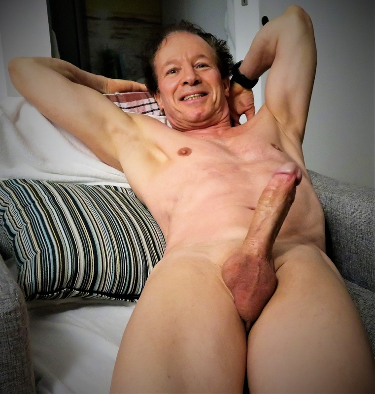 Very excited nude and shaved exposed at age 75,getting so erect to be seen like that!