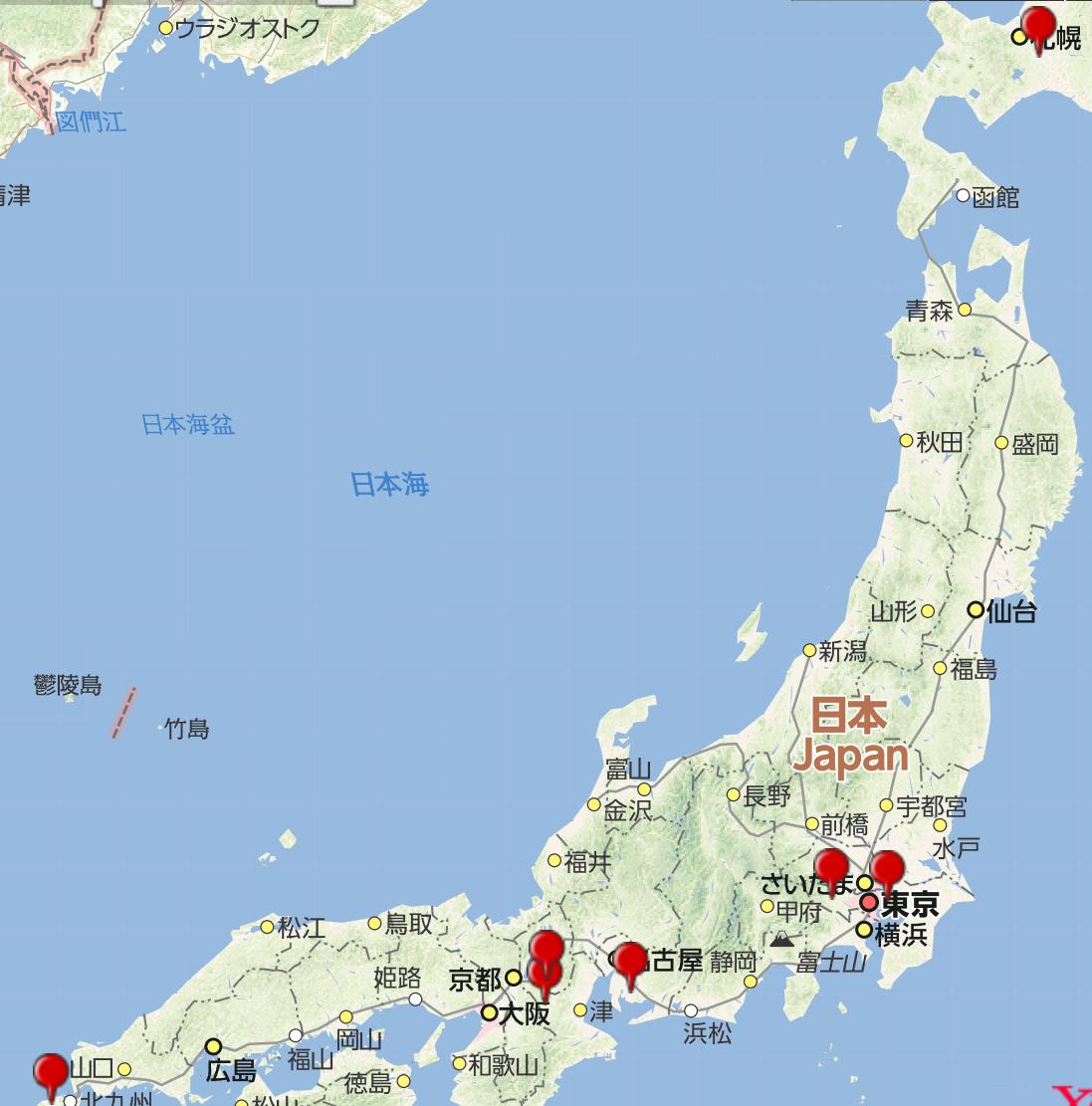リユースショップ買取専門店わかばの10月のオープン店MAP