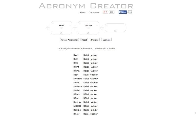ACRONYM CREATOR