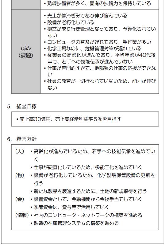 Y社の経営計画3