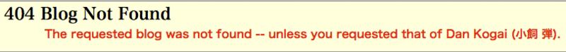 404 Blog Not Found 。