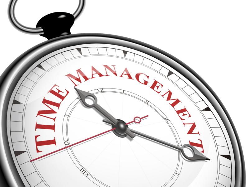 time management concept clock