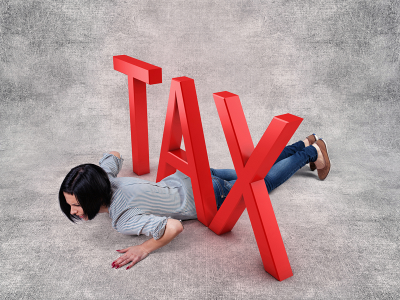 Girl under tax