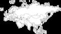 [白地図]ユーラシア大陸の白地図