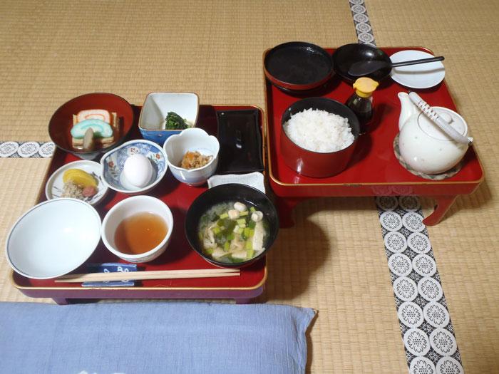 朝の精進料理