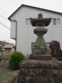 [神仏][秋葉]田中秋葉神社の石祠と石灯籠