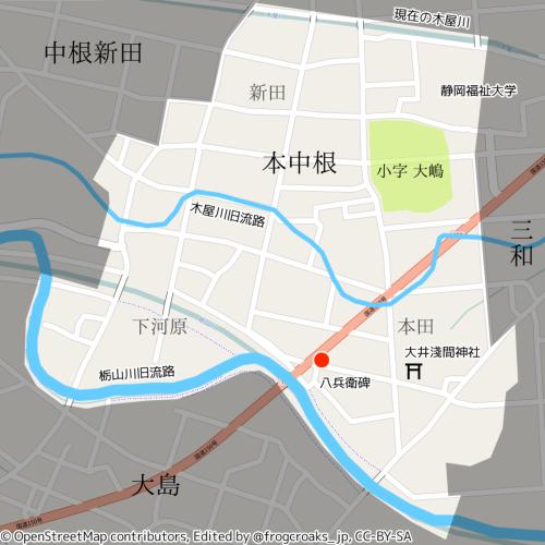 本中根の地図