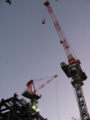葵タワー建設中のクレーン