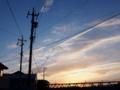 [空模様][夕焼け]wired 20170603