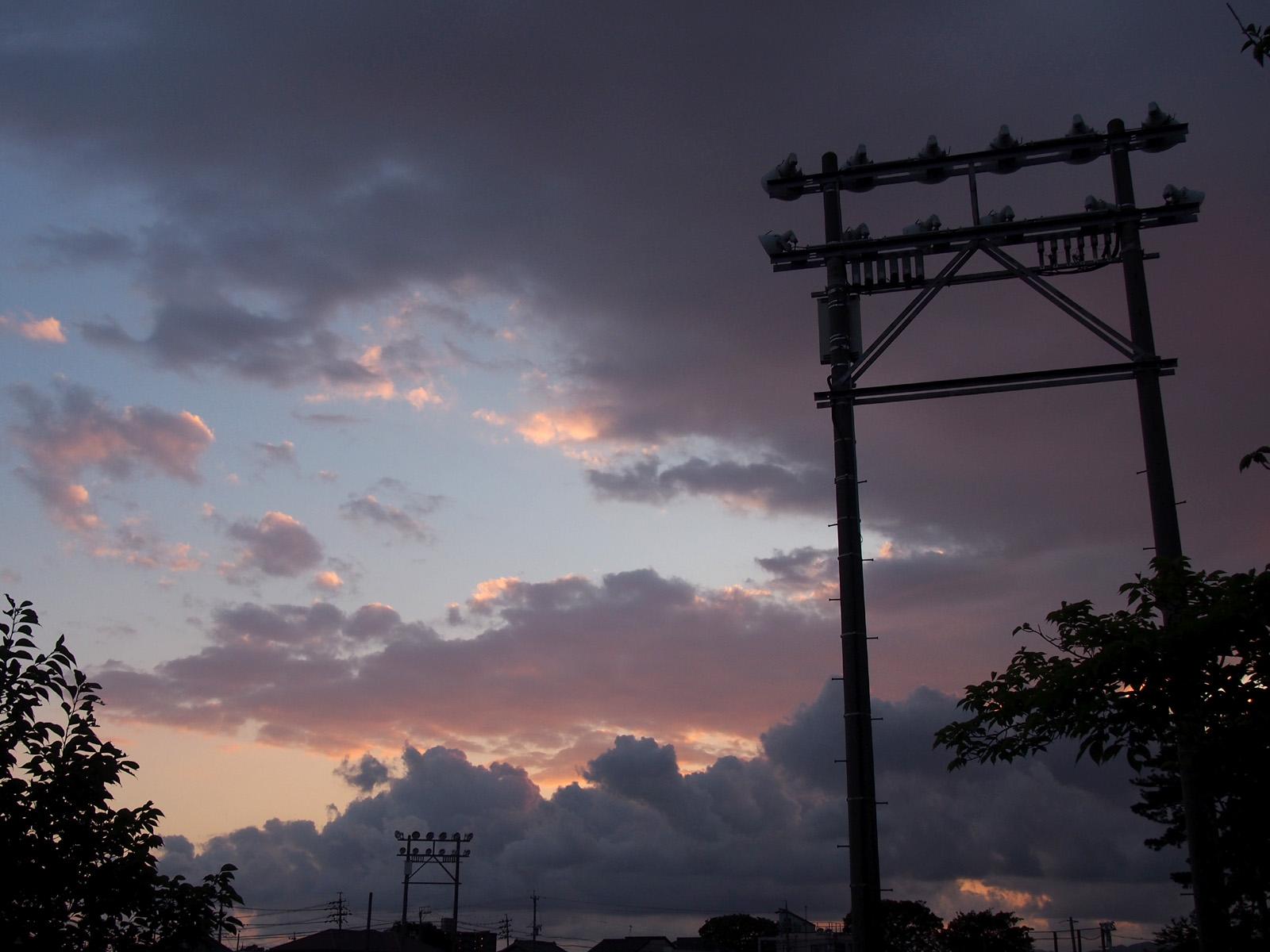中公園グラウンドの照明塔
