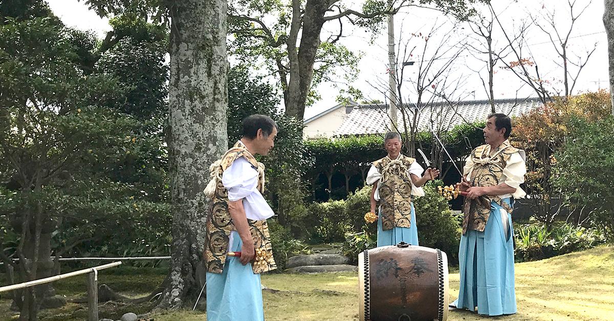 笹間神楽、三宝太刀の舞