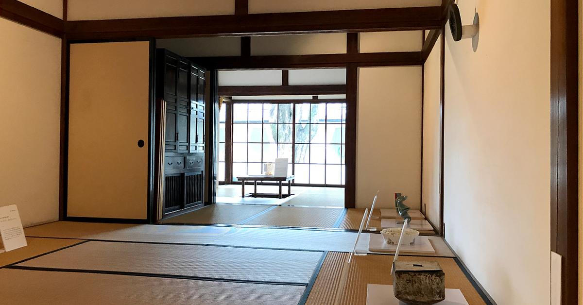 島田市博物館分館、家族の部屋、仏間、主人の間の展示