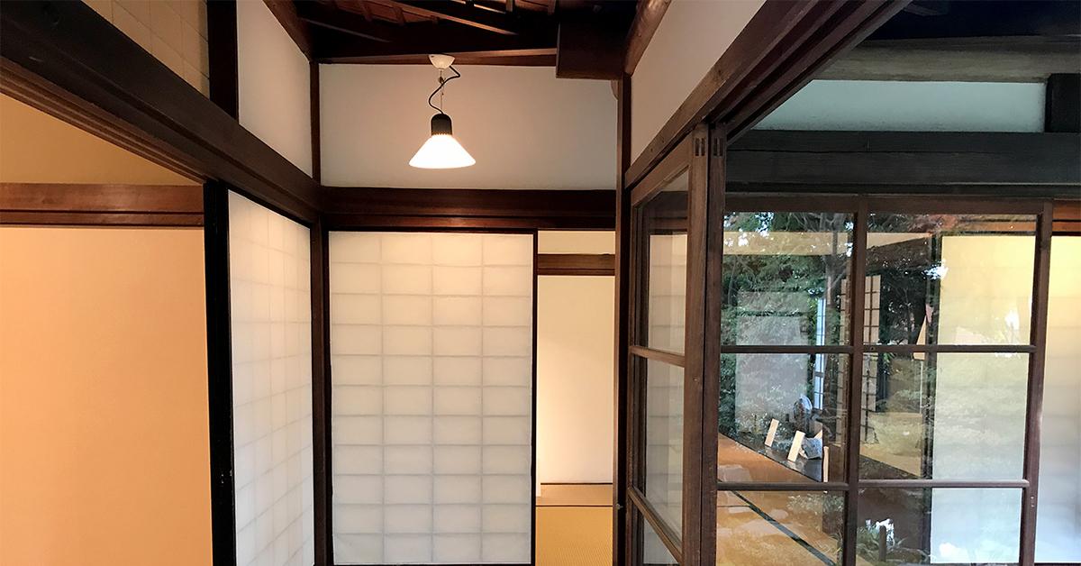 島田市博物館分館、廊下から