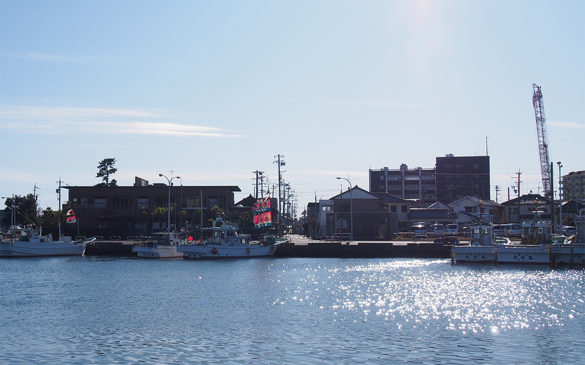 焼津港、お正月の船溜まり
