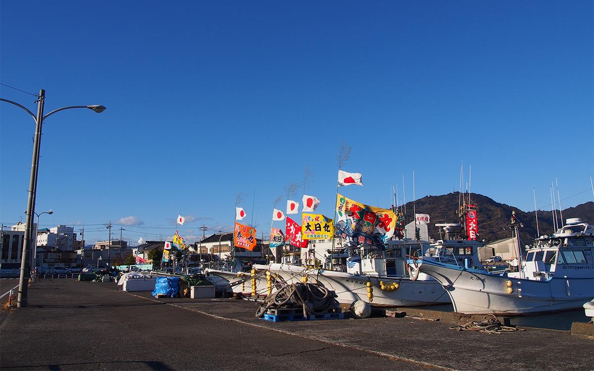 2018年の焼津港の大漁旗