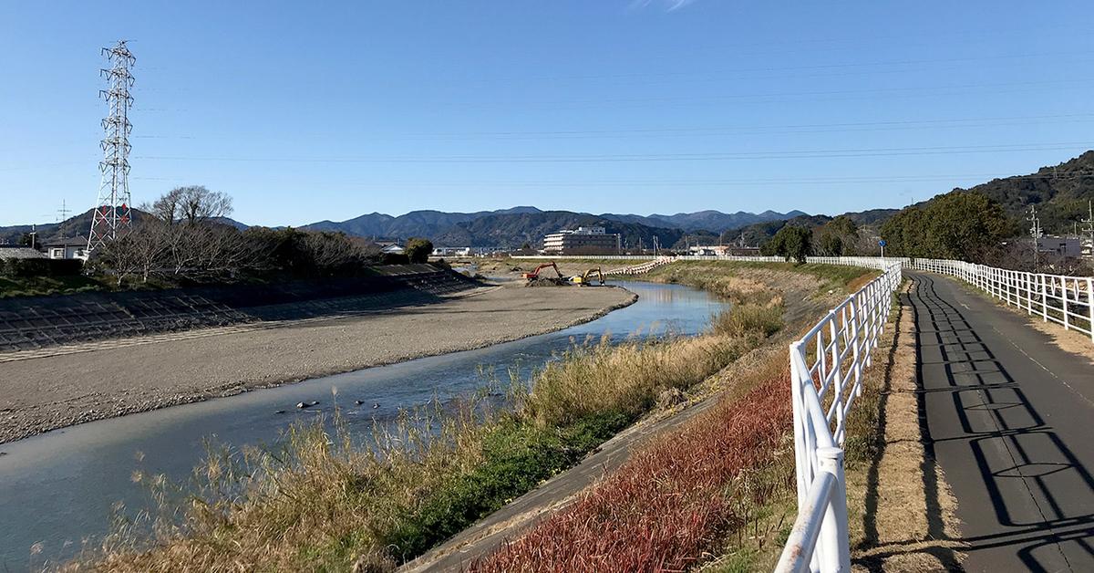 朝比奈川、冬の河津桜並木