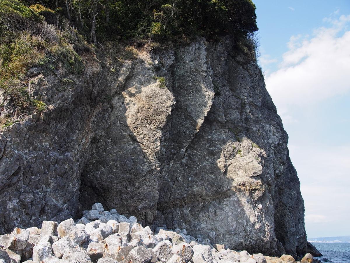 虚空蔵山の岩壁