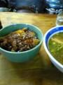 [ラーメン][カツ丼] だて / 岡山 の「だてそば」と「カツ丼(小)」