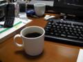 コーヒー。イッタラのマグカップ(白)にて