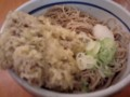 [蕎麦] 一心太助@田町 天ぷら蕎麦(冷ぶっかけ) 400円(舞茸天)