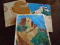 [版画] 1988年(16歳)の多色刷り版画(万里の長城)