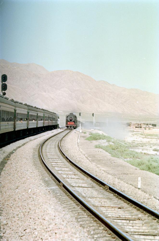 蘭州~酒泉に向かう鉄道(1991年夏)